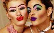 two girls with too much makeup